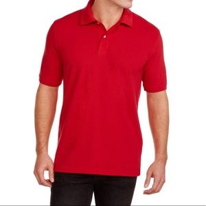 🎆 4/$40 Red Short Sleeve Polo Shirt
